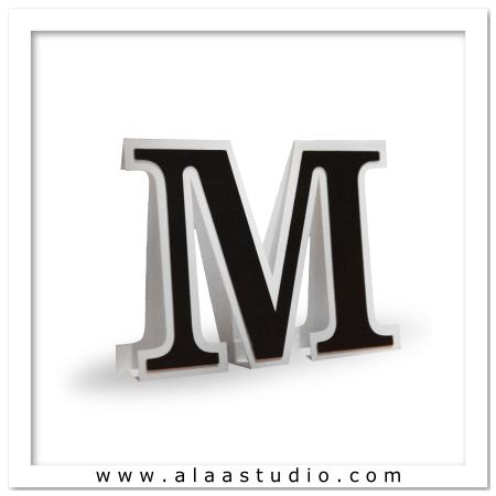 3D Flat fold letter M