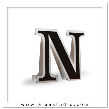 3D Flat fold letter N