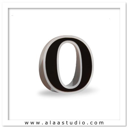 3D Flat fold letter O