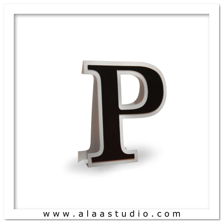 3D Flat fold letter P
