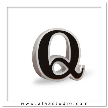 3D Flat fold letter Q