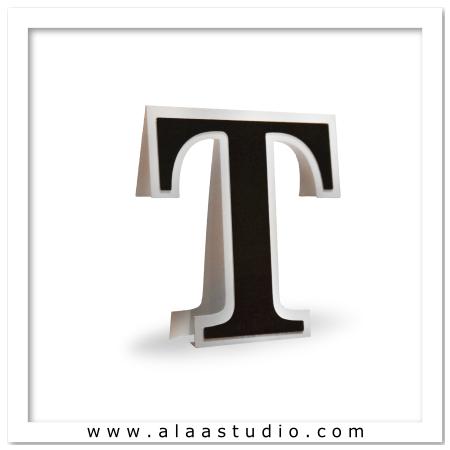 3D Flat fold letter T