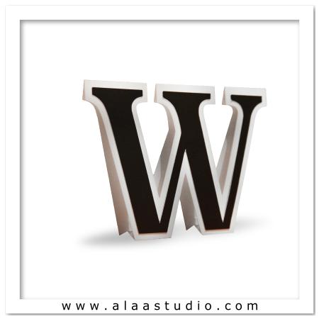 3D Flat fold letter W