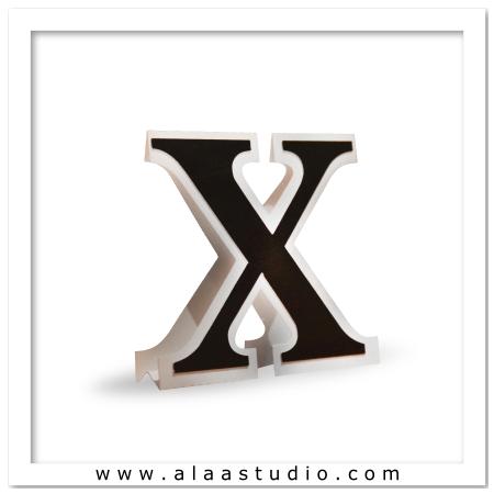 3D Flat fold letter X