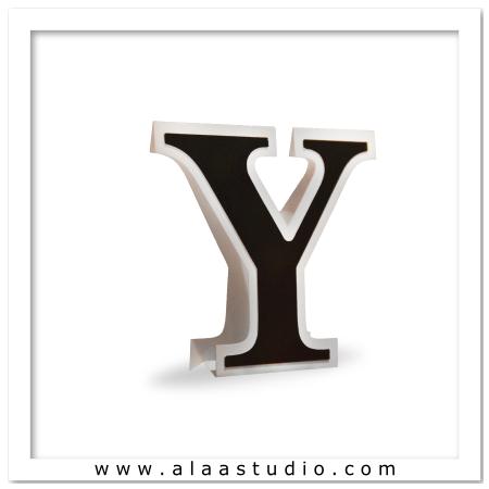 3D Flat fold letter Y