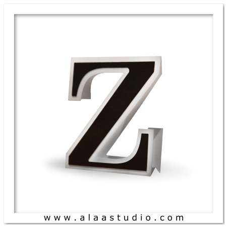 3D Flat fold letter Z