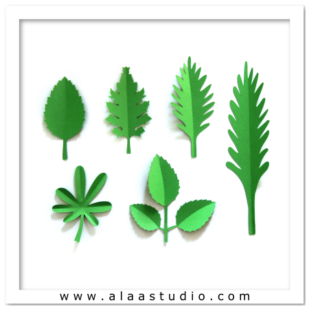 3D Large flower leaves