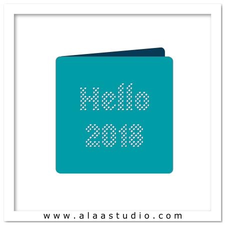 2018 Lattice cutout card