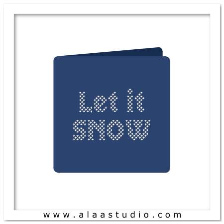 Snow lattice cutout card