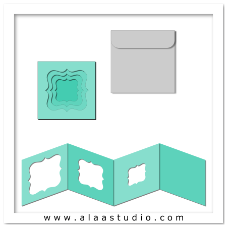 Nested windows card w envelope