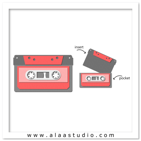 Cassette tape pocket card