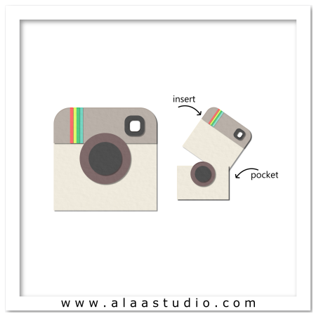 Instagram instant cam pocket card